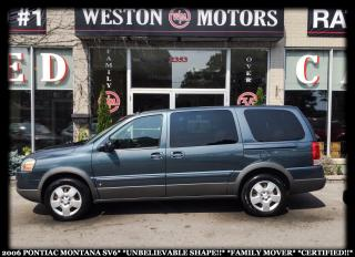 Used 2006 Pontiac Montana SV6*UNBELIEVABLE SHAPE!!*FAMILY MOVER!*CERTIFIED!! for sale in York, ON