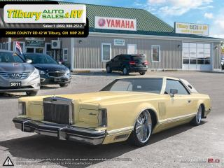 Used 1977 Lincoln Continental MARK V 5 *Air Ride Suspension. Touch Screen. DVD* for sale in Tilbury, ON