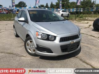 Used 2012 Chevrolet Sonic LT | AUTO LOANS APPROVED for sale in London, ON