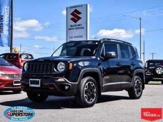 Used 2017 Jeep Renegade Trailhawk 4x4 ~Nav ~Backup Cam ~Heated Seats/Wheel for sale in Barrie, ON