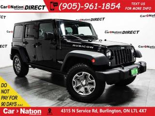 Used 2017 Jeep Wrangler Unlimited Rubicon| LOW KM'S| LEATHER| NAVI| for sale in Burlington, ON