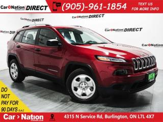 Used 2016 Jeep Cherokee Sport| BACK UP CAM| HEATED SEATS & STEERING WHEEL| for sale in Burlington, ON