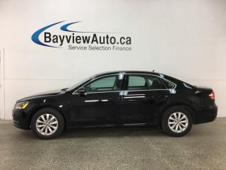 Used 2014 Volkswagen Passat 1.8 TSI Trendline - ALLOYS! HTD SEATS! DUAL CLIMATE! BLUETOOTH! CRUISE! for sale in Belleville, ON