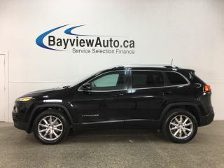 Used 2017 Jeep Cherokee Limited - REMOTE START! PANOROOF! HTD/COOLED LTHR! NAV! REVERSE CAM! U-CONNECT! for sale in Belleville, ON