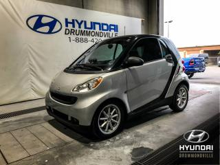 Used 2009 Smart fortwo PASSION + TOIT + A/C + MAGS + WOW ! for sale in Drummondville, QC