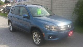 Used 2017 Volkswagen Tiguan WOLFSBURG EDITION 4 MOTION AWD for sale in Beaverton, ON
