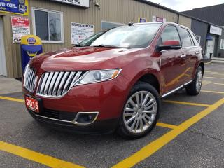 Used 2015 Lincoln MKX NAVIGATION-PAN ROOF-REAR CAMERA-FACTORY WARRANTY for sale in Tilbury, ON