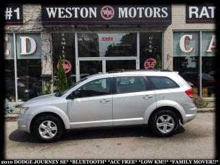 Used 2010 Dodge Journey SE*BLUETOOTH*ACC FREE*LOW KM!!*FAMILY MOVER!!* for sale in York, ON