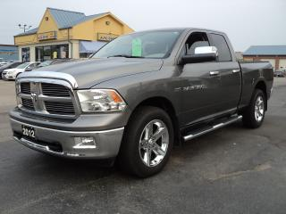 Used 2012 Dodge Ram 1500 Big Horn QuadCab 4X4 5.7L Hemi 6ft Box for sale in Brantford, ON