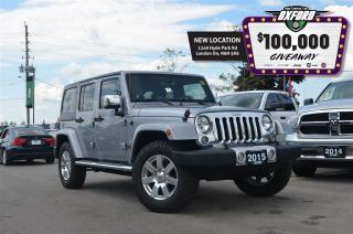 Used 2015 Jeep Wrangler Unlimited Sahara - One Owner, Bluetooth, Trailer Hitch, GPS for sale in London, ON