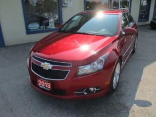 Used 2013 Chevrolet Cruze LOADED LTZ - RS EDITION 5 PASSENGER 1.4L - TURBO.. LEATHER.. HEATED SEATS.. NAVIGATION.. SUNROOF.. BACK-UP CAMERA.. BLUETOOTH SYSTEM.. for sale in Bradford, ON