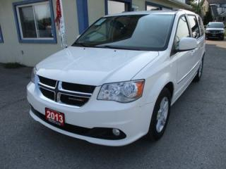 Used 2013 Dodge Grand Caravan 'LOADED' FAMILY MOVING CREW MODEL 7 PASSENGER 3.6L - V6.. CAPTAINS.. STOW-N-GO.. LEATHER.. NAVIGATION.. DUAL DVD PLAYER.. POWER DOORS & WINDOWS.. for sale in Bradford, ON