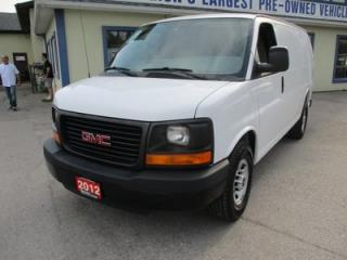 Used 2012 GMC Savana 3/4 TON WORK READY CARGO MOVER 2 PASSENGER 4.8L - VORTEC.. SHORTY.. TRACTION CONTROL.. TOW SUPPORT.. AIR CONDITIONING.. for sale in Bradford, ON