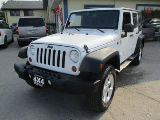 Used 2013 Jeep Wrangler POWER EQUIPPED UNLIMITED EDITION 5 PASSENGER 3.6L - V6.. 4X4.. HARD & SOFT TOP.. BLUETOOTH.. KEYLESS ENTRY.. for sale in Bradford, ON