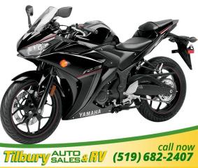 New 2018 Yamaha YZF-R3 Twin cylinder 320 CC engine for sale in Tilbury, ON