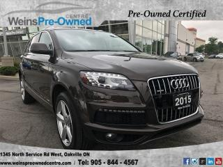 Used 2015 Audi Q7 3.0T Sport for sale in Oakville, ON