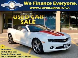 Used 2011 Chevrolet Camaro 2LT Convertible, Red Interior, HUD for sale in Concord, ON