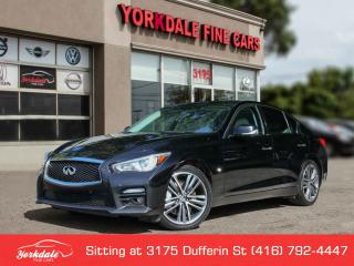 Used 2014 Infiniti Q50 Sport Navigation, Camera, Roof. 19 Inch Alloys for sale in Toronto, ON