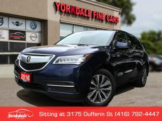 Used 2016 Acura MDX Technology Package Elite Tech Pkg. Navigation. Camera.DVD Very Clean for sale in Toronto, ON