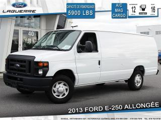 Used 2013 Ford E250 Allongée A/c Vinyle for sale in Victoriaville, QC