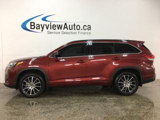 Used 2018 Toyota Highlander - SUNROOF! HTD LTHR! BSD! ADAPTIVE CRUISE! LDW! for sale in Belleville, ON