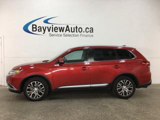 Used 2017 Mitsubishi Outlander GT - HITCH! SUNROOF! HTD LTHR! ADAPTIVE CRUISE! for sale in Belleville, ON
