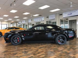 Used 2018 Dodge Challenger SRT Demon - 840HP! BLACK ON BLACK LEATHER! MICKEY THOMPSON FRONT RUNNERS! LOADED! 700 MILES! for sale in Belleville, ON