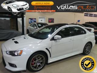 Used 2015 Mitsubishi Lancer Evolution GSR| FINAL EDITION| PEARL WHITE for sale in Vaughan, ON