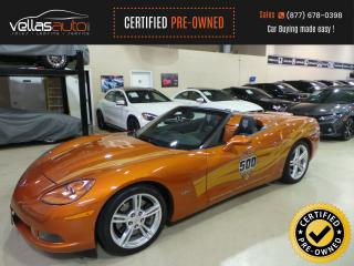 Used 2007 Chevrolet Corvette CONVERTIBLE INDIANAPOLIS 500 PACE CAR EDITION for sale in Vaughan, ON