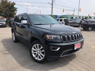Used 2017 Jeep Grand Cherokee Limited**Leather**Power Sunroof** for sale in Mississauga, ON