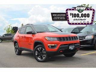 Used 2017 Jeep Compass Trailhawk - 4x4, Sunroof, Back Up Cam, GPS, Traile for sale in London, ON