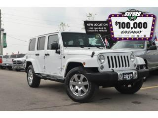 Used 2015 Jeep Wrangler Unlimited Sahara - 4x4, Dual Top, Bluetooth, Trailer Hitch for sale in London, ON