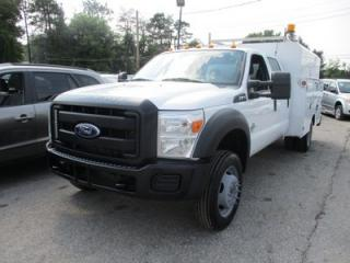 Used 2011 Ford F-450 'GREAT VALUE' WORK READY XL MODEL 6 PASSENGER 6.7L - DIESEL.. 4X4.. CREW.. WORK BOX.. TRAILER BRAKE.. AIR CONDITIONING.. for sale in Bradford, ON
