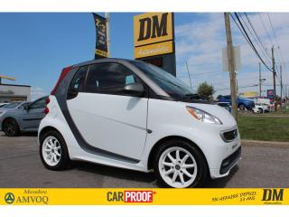Used 2015 Smart fortwo Passion Cabriolet for sale in Salaberry-de-Valleyfield, QC