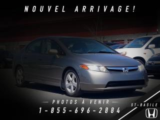 Used 2007 Honda Civic LX Berline + MAGS + CRUISE CONTROL + AIR for sale in St-Basile-le-Grand, QC