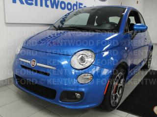Used 2016 Fiat 500 SPORT FWD Hatch. It's blue so you don't have to be! for sale in Edmonton, AB