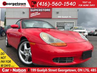 Used 2000 Porsche Boxster ROADSTER | 5 SPEED | LEATHER | LOW KM for sale in Georgetown, ON