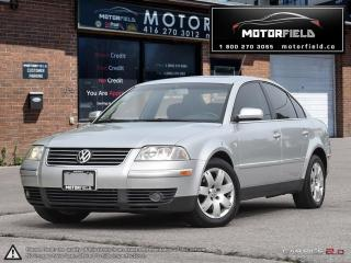Used 2002 Volkswagen Passat GLX *SUNROOF, LEATHER, CERTIFIED* for sale in Scarborough, ON