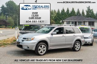 Used 2006 Mitsubishi Outlander Limited, Leather, AWD, Sunroof, Loaded! for sale in Surrey, BC