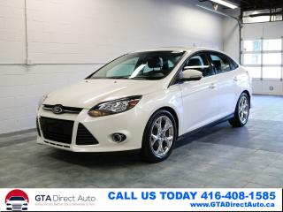 Used 2014 Ford Focus Titanium NAV SUNROOF LEATHER HEATED CERTIFIED for sale in Toronto, ON