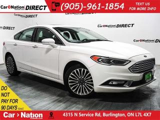 Used 2017 Ford Fusion SE| AWD| LEATHER| SUNROOF| NAVI| for sale in Burlington, ON