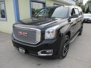 Used 2016 GMC Yukon XL LOADED SLT MODEL 8 PASSENGER 5.3L - V8.. 4X4.. BENCH & 3RD ROW.. LEATHER.. HEATED/AC SEATS.. DUAL DVD.. SUNROOF.. NAVIGATION.. BACK-UP CAMERA.. for sale in Bradford, ON