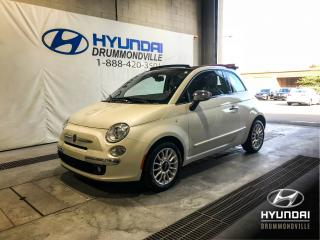 Used 2013 Fiat 500 LOUNGE + GARANTIE + CUIR + A/C + WOW ! for sale in Drummondville, QC