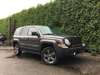Used 2015 Jeep Patriot HIGH ALTITUDE 4X4 + SUNROOF, LEATHER HEATED FRONT SEATS, POWER 6 WAY DRIVER SEAT, RADIO 230 AM/FM/6CD, BLUETOOTH for sale in Surrey, BC