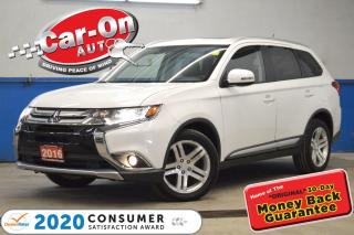 Used 2016 Mitsubishi Outlander PREMIUM AWD LEATHER SUNROOF REAR CAM LOADED for sale in Ottawa, ON