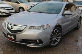 Used 2015 Acura TLX SH-AWD w/Advance pkg V6 Elite Navigation camera Blind spot for sale in Mississauga, ON
