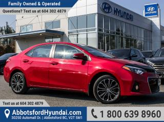 Used 2014 Toyota Corolla S BC OWNED & ACCIDENT FREE for sale in Abbotsford, BC