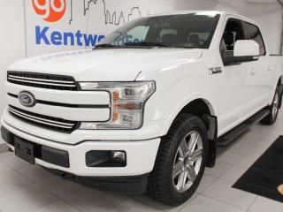 Used 2018 Ford F-150 Lariat FX4 off road ecoboost, NAV, panoramic sunroof, heated/cooled power leather seats, heated steering wheel, heated leather rear seats, push start/stop, back up cam for sale in Edmonton, AB