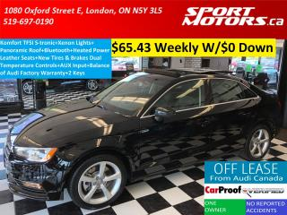 Used 2015 Audi A3 1.8T Komfort TFSI S-tronic+Xenons+Roof+New Tires++ for sale in London, ON