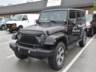 Used 2016 Jeep Wrangler Unlimited Sahara NAVIGATION,LEATHER,DUAL TOP, UPGRADED LIGHT for sale in Concord, ON